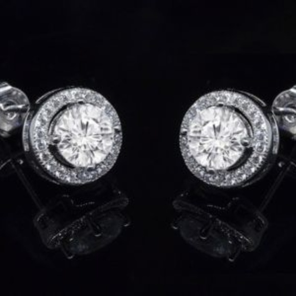 afe611268 Jewelry | Crystal Earrings Plated In 18k White Gold | Poshmark
